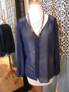 L/S Button up blouse $46, 812.330.3527