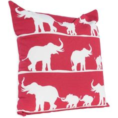 20x20 Red Elephant Pillow