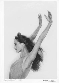Maya Plisetskaya - Parigi, 1973....la rose malade de Roland Petit ......beauté absolue ...