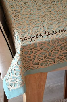 Visit the post for more. Home Crafts, Diy And Crafts, Dining Table Cloth, Cushion Fabric, Cutwork, Table Covers, Natural Linen, Table Runners, Cross Stitch Patterns
