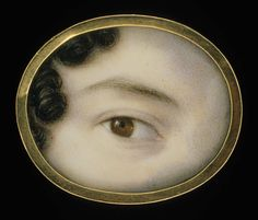 The Eye of a Lady, circa via Smithsonian American Art Museum, Washington, DC / Art Resource, NY Lovers Eyes, Miniature Portraits, Mourning Jewelry, Eye Jewelry, Silver Jewelry, Silver Rings, Eye Art, Memento Mori, Good Day Song