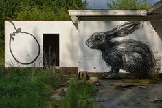 Roa - Doel (Belgium) by SevyBxl, via Flickr...the subject matter makes me sad but it's amazing art.
