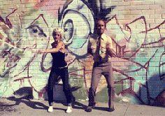 Street dancers......