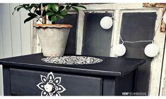 Sjabloneren, alle tips en trucs Chalk Paint, Stencils, Planter Pots, Canning, Diy, Ideas, Bricolage, Do It Yourself, Templates