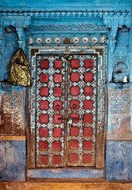 Jodhpur Door, India (Trouvaille Blue on Flickr)