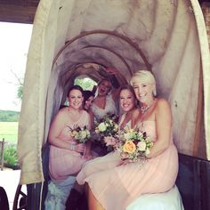 Bridesmaids! Bridesmaid Dresses, Wedding Dresses, Bridesmaids, Cottages, Country, Fashion, Moda, Bridal Dresses, Cottage
