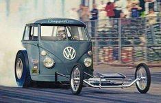 History - Drag cars in motion. Vw Bus, Vw T1 Camper, Volkswagen Type 3, Volkswagen Transporter, Cars 1, Old Race Cars, Drag Cars, Hot Cars, Vintage Racing
