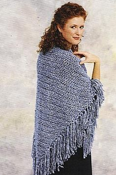Easy knitted shawl free pattern.