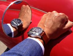 Reflecting the quality in a Le Mans racing watch from Maurice de Mauriac. Swiss quality and design in a watch. http://mauricedemauriac.ch/