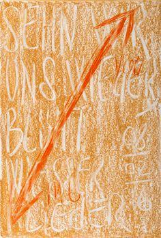YOSEF JOSEPH DADOUNE   Arrow right up , You  Arrow down left, Me   Shen wir uns wieder blüht weisser flieder 08/02/16   Pastels on Nostalgique Hahnemühle paper  59,4 x 84,1cm (A1) - 190g/m²  Photographer: Yigal Pardo