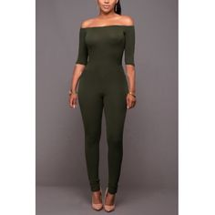 914e31d5ad2e Style Strapless Half Sleeves Green Qmilch One-piece Skinny Jumpsuits