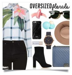 """OVERSIZED FLORALS"" by creating-outfits ❤ liked on Polyvore featuring Ted Baker, Topshop, Chanel, Gianvito Rossi, Ray-Ban, Satya Twena, Elizabeth Arden, Native Union, Marc Jacobs and River Island"
