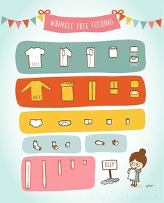 Konmari Step 5 - Fold Juju Sprinkles - Sprinkles of Happiness