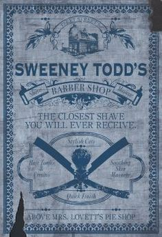 Sweeney Todd Barber Shop Advert by chrisables