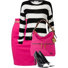 """""""Black and White and Pink"""" by abraonlynn on Polyvore Apostolic Clothing"""