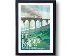 Harry Potter Poster Zweinstein Express Travel Poster, Harry Potter kunst, Harry Potter Wegisweg, Harry Potter Wall Art