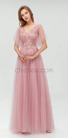 A-line Tulle Long Cheap Modest Prom Dress with Appliques,Newest Bridesmaid Dresses Source by dresses black girls slay pink Mermaid Prom Dresses Lace, Prom Dresses Long Pink, Prom Dresses Two Piece, Grey Bridesmaid Dresses, Elegant Prom Dresses, Tulle Prom Dress, Simple Dresses, Pretty Dresses, The Dress