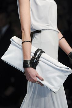 *fashion design, women apparel, white outfit* - love clutch