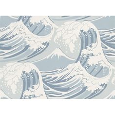 Blue waves wallpaper! Great Wave (89/2007) Wallpaper by ColeSon. Free samples available - click image to visit Newlook Interiors