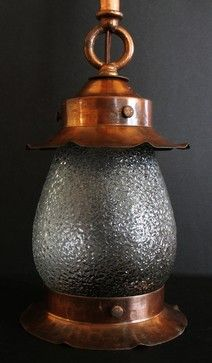 coppered brass arts and crafts porch light traditional pendant lighting other metro