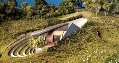 Bigbury Hollow, highly innovative subterranean house by hawkes architecture
