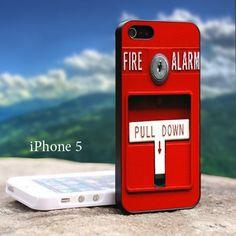 Fire Alarm Iphone 5 Black Case | GoToArt - Accessories on ArtFire