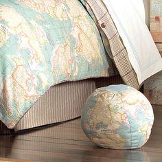 Hermes Globe Decorative Pillow from PoshTots
