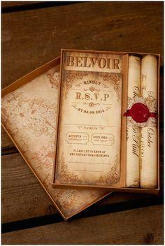 Montecristo Scroll Wedding Invitation
