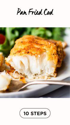 Cod Fish Recipes, Seafood Recipes, Keto Recipes, Vegetarian Recipes, Dinner Recipes, Cooking Recipes, Easy Cod Recipes, Healthy Cod Recipes, Simple Fish Recipes