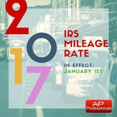 Accounts Payable Professionals: The IRS Standard Mileage rate has been adjusted lo. Accounts Payable, January 1, Accounting