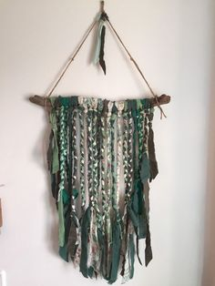 Driftwood Boho Wall Hanging Green Hippy Ethnic in Home, Furniture & DIY, Home Decor, Wall Hangings | eBay!