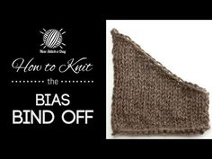 Bias bind-off (to avoid the stair step look on neckline edges)