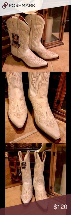 """Dan Post Women's Leather Boots Dan Post Women's Leather Boots:   There maybe be some writing inside boot for sizing & a few scuffs but otherwise they are new and so a """"lower price is listed."""" Dan Post Shoes"""