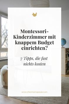 Montessori kids room set up TROTZ tight budget? 7 furnishing tips that cost almost nothing. - Montessori kids room set up TROTZ tight budget? 7 tips - Nursery Room, Baby Room, Diy Montessori, Montessori Kindergarten, Parents Room, Room Kids, Baby Zimmer, Tight Budget, Baby Hacks