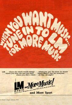 LM RADIO ADVERT 1973