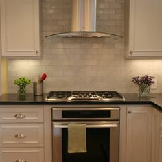 Kitchen Kitchen Backsplashes For White Cabinets And Dark Countertop Design, Pictures, Remodel, Decor and Ideas - page 12