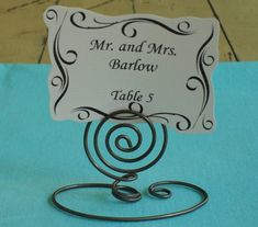 Place Card Holders...maybe I could make these for you Connie