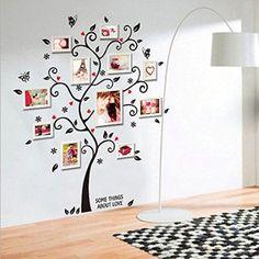 "Soledì- Chic! Adesivi Murales Carta da Pareti ""Farfalla Fiori Albero di Foto Cornice per Foto Album"" Fai da Te!"