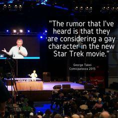 George Takei rumor of a gay character in Star Trek - Comicpalooza 2015