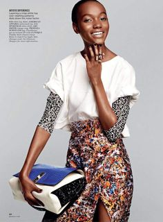 FAB Editorial: Tanzanian Model Herieth Paul By Victor Demarchelier For Glamour Magazine's August 2014 Issue