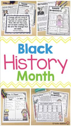 Black History Month - This is the perfect resource to celebrate 23 important African Americans during Black History Month in February. Your 3rd, 4th, 5th, and 6th grade students will get reading comprehension passages, quotes, hands-on timeline activities, brainstorming pages, and biographies pages for each person. People include Barack Obama, George Washington Carber, Ruby Bridges, Martin Luther King Jr, Michael Jordan, and MANY others. {third, fourth, fifth, sixth graders - upper elementary} Get Reading, Guided Reading, 5th Grade Classroom, Reading Comprehension Passages, 100 Days Of School, Winter Ideas, Biographies, King Jr, African Americans