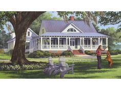 Home Plan HOMEPW26799 is a gorgeous 2553 sq ft, 2 story, 4 bedroom, 3 bathroom plan influenced by + Cottage  style architecture.
