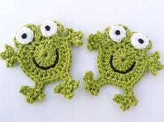 Crochet appliques crochet frogs 2 applique frogs