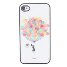 EUR € 1.87 - Balloon modello Custodia rigida per iPhone 4/4S, Gadget a Spedizione Gratuita da MiniInTheBox!