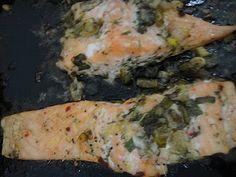Otlu Somon    Turkish DIshes: Salmon with herbs