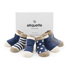 Baby socks by Etiquette Clothiers,