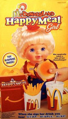 Mcdonald Land Happy Meal girl. I always wanted one of these and those Mattel Barbie doll sets. { ♥ }