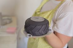 Tire Cake! Fondant Cakes, Cupcake Cakes, Cupcakes, Tire Cake, Party Themes, Party Ideas, Infancy, Cakes And More, Future House