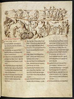 Utrecht124_The Utrecht Psalter, End of  Carolingian manuscript, Rheims style, 820s A.D. Utrecht, Cathedral Library.