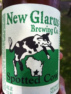 New Glarus Brewing Co - Spotted Cow, Wisconsin microbrew can be found at The Dirty Turtle bar & restaurant near our lake house!